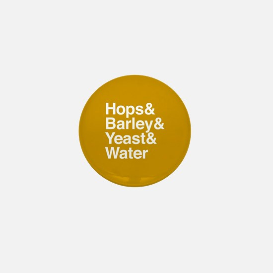 Hops Barley Yeast Water Mini Button