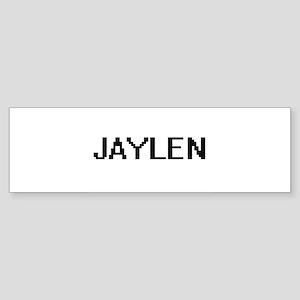 Jaylen Digital Name Design Bumper Sticker