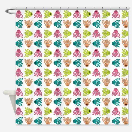 HAPPY JELLYFISH Shower Curtain