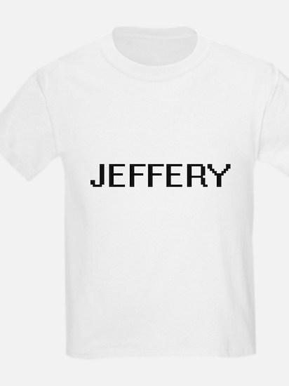 Jeffery Digital Name Design T-Shirt