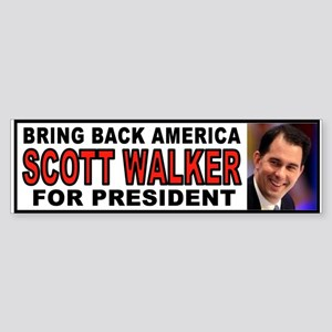 Walker For President Bumper Sticker