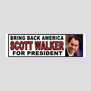 Walker For President 36x11 Wall Decal