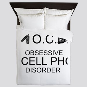Cell Phone Disorder Queen Duvet