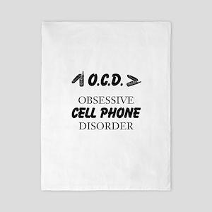 Cell Phone Disorder Twin Duvet