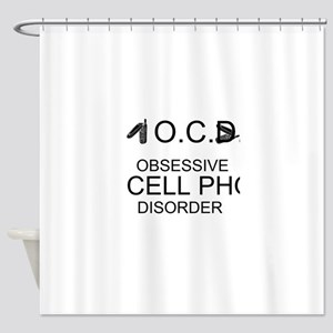 Cell Phone Disorder Shower Curtain