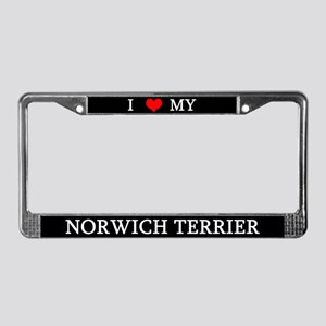 Love Norwich Terrier License Plate Frame