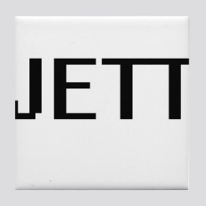 Jett Digital Name Design Tile Coaster