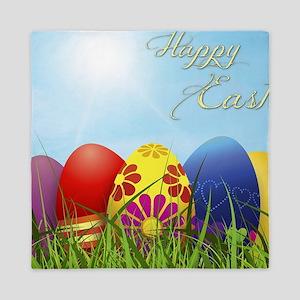 Happy Easter Coloured Eggs Queen Duvet