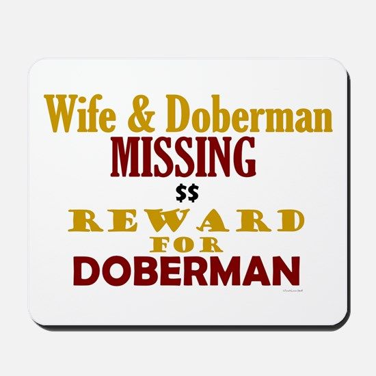 Wife & Doberman Missing Mousepad