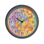 Celtic Crescents Rainbow Wall Clock