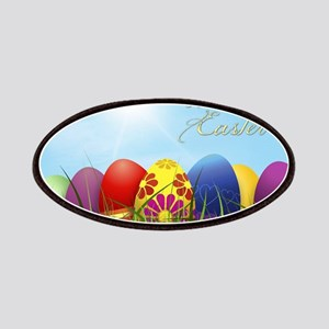 Happy Easter Coloured Eggs Patch