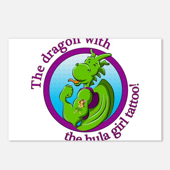 The dragon with the hula Postcards (Package of 8)