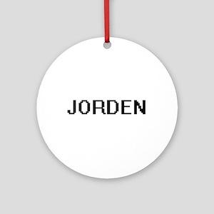 Jorden Digital Name Design Ornament (Round)