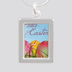 Happy Easter Decorated Eggs Necklaces