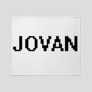 Jovan Digital Name Design Throw Blanket