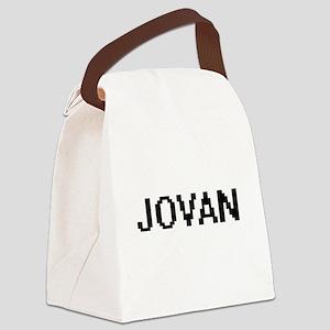 Jovan Digital Name Design Canvas Lunch Bag
