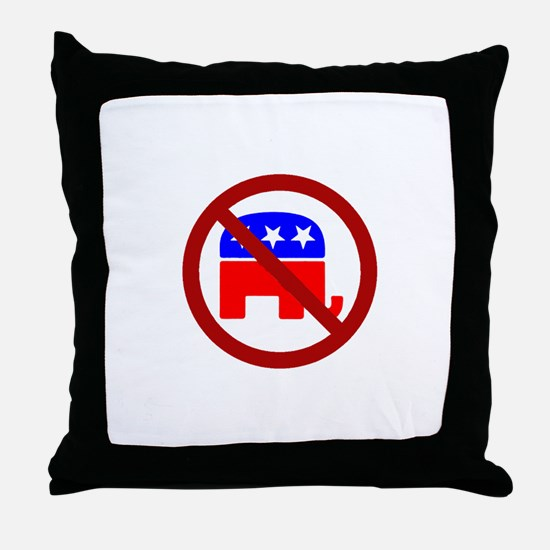 Anti-Elephant Throw Pillow