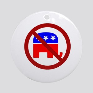 Anti-Elephant Ornament (Round)