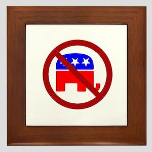 Anti-Elephant Framed Tile
