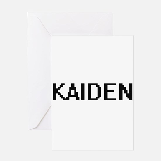 Kaiden Digital Name Design Greeting Cards