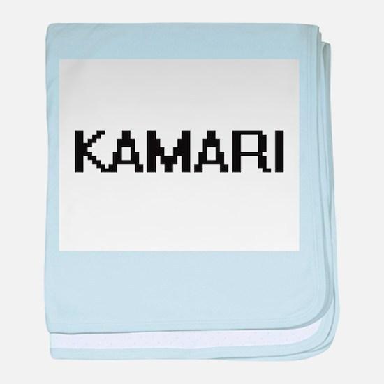 Kamari Digital Name Design baby blanket