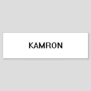 Kamron Digital Name Design Bumper Sticker