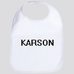 Karson Digital Name Design Bib