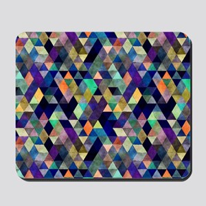 Mixed colors triangles Mousepad