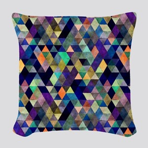 Mixed colors triangles Woven Throw Pillow