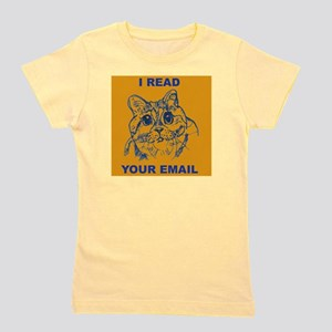 Cat reads your email Girl's Tee