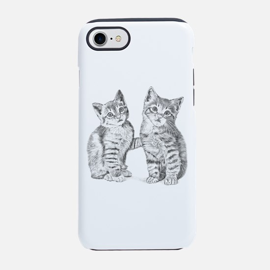 Two Tabby kittens iPhone 7 Tough Case