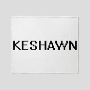 Keshawn Digital Name Design Throw Blanket