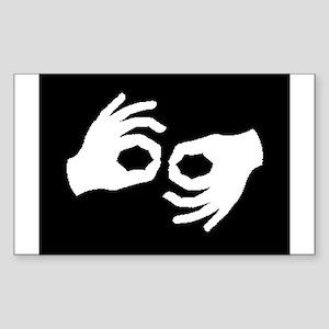 Interpreter-dk Rectangle Sticker