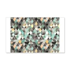 Mixed colors triangles Wall Decal