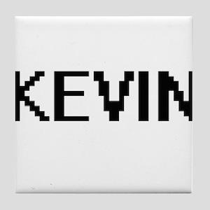 Kevin Digital Name Design Tile Coaster