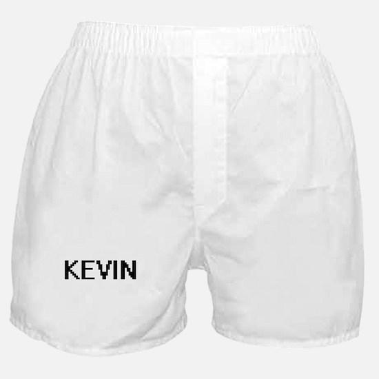 Kevin Digital Name Design Boxer Shorts