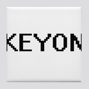 Keyon Digital Name Design Tile Coaster