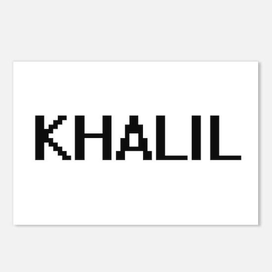 Khalil Digital Name Desig Postcards (Package of 8)