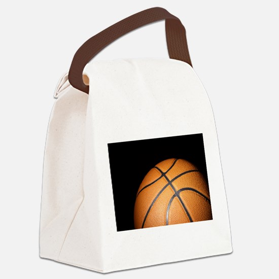 Basketball Ball Canvas Lunch Bag