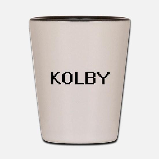 Kolby Digital Name Design Shot Glass