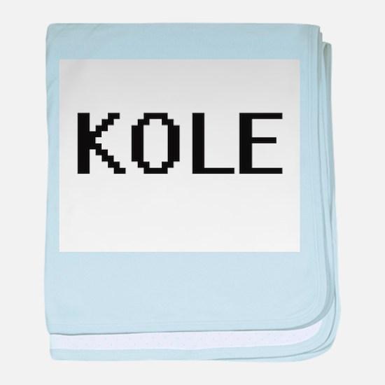 Kole Digital Name Design baby blanket