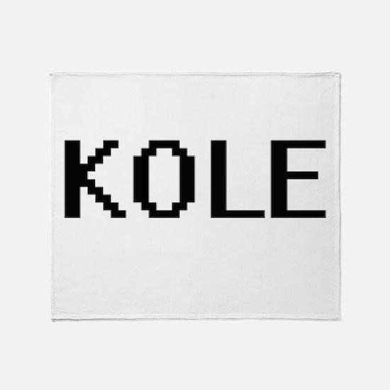 Kole Digital Name Design Throw Blanket