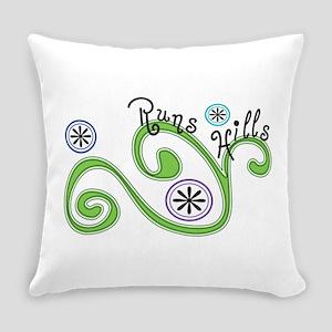 Runs Hills Everyday Pillow
