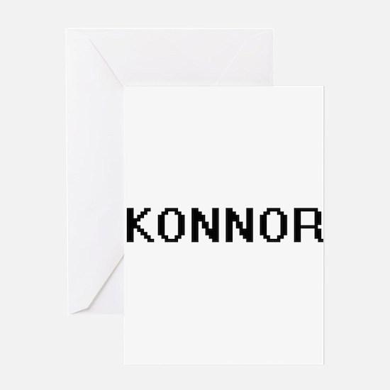 Konnor Digital Name Design Greeting Cards