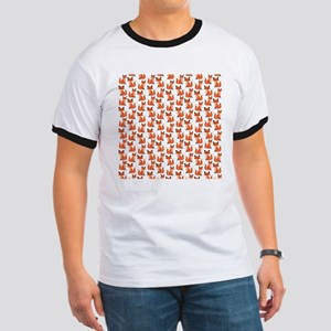 Hipster foxes cute fox pattern woodland c Ringer T