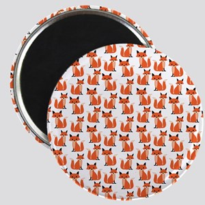 Hipster foxes cute fox pattern woodland cri Magnet
