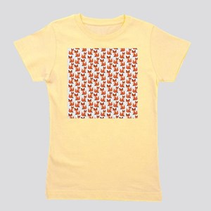 Hipster foxes cute fox pattern woodland Girl's Tee