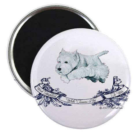 "Westhighland Agility Terrier 2.25"" Magnet (10 pack"
