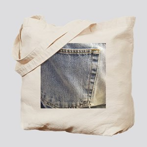 Denim Pocket Tote Bag