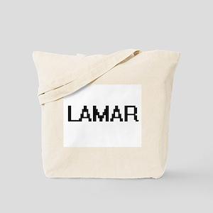 Lamar Digital Name Design Tote Bag